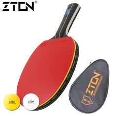 Sports & Entertainment ... ... Racquet Sports ... ZTON Table tennis racket Double pimples-in rubber Ping Pong Racket fast attack and loops or chop type player