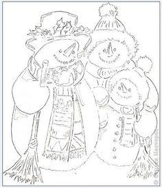 Картина панно рисунок Новый год Вырезание Семья снеговиков Бумага фото 5
