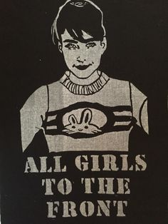 A personal favorite from my Etsy shop https://www.etsy.com/listing/462062011/bikini-kill-back-patch-kathleen-hanna