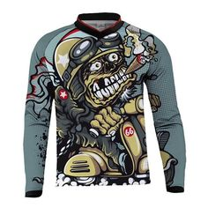 Camiseta motera graciosa Bmx, Motocross, Motorcycle Outfit, Motorcycle Jacket, Races Outfit, Lightin The Box, Uniform Shirts, Shirt Outfit, T Shirt