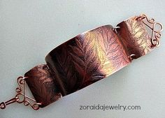 free jewelry tutorials, plus a friendly community sharing creative ideas for making and selling jewelry. Leaf Jewelry, Copper Jewelry, Wire Jewelry, Jewelry Crafts, Copper Cuff, Copper Bracelet, Jewellery, Copper Wire, Jewelry Ideas