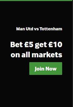 Man Utd vs Tottenham Bet get on all markets your Offer Sports Betting, Marketing