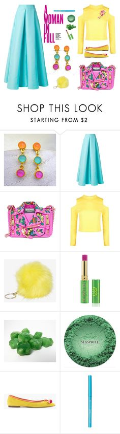 """Colorful Outfit"" by evanangel ❤ liked on Polyvore featuring Roksanda, Moschino, Boohoo, KAROLINA, Presh, Tata Harper and J.Crew"