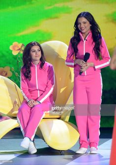 Actors Cree Cicchino (R) and Madisyn Shipman onstage at Nickelodeon's 2017 Kids' Choice Awards at USC Galen Center on March 11, 2017 in Los Angeles, California.
