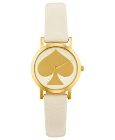 kate spade new york Watch, Women`s Metro Mini White Leather Strap Red Sundress, Jewelry Accessories, Women Jewelry, Kate Spade Watch, Mixed Metal Jewelry, White Leather, Bling, York, Watch Women