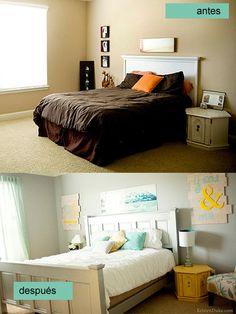 Master Bedroom Makeover on a Budget | Master bedroom makeover ...