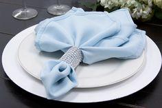 "Polyester+Napkin+20""x20""+-+Baby+Blue"