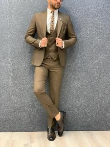 Jake Coffee Slim Fit Suit – MenSuitsPage
