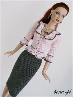 "bena-pl Clothes for Tonner Tyler 16"" & Nu Mood fashion body dolls 16 OOAK outfit"