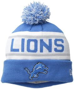 NFL Detroit Lions Biggest Fan Redux Beanie Acrylic outer with Fleece lining  for added warmth New Era Pom Pom Cuff Knit Fashion Knit 9267a50b865b