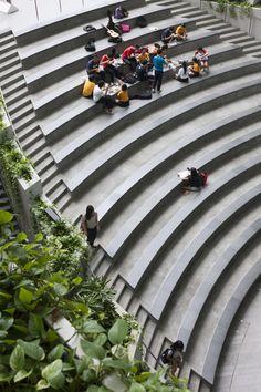 Galerie des Sterns / Andrew Bromberg von Aedas – 18 - Home Dekoration Amphitheater Architecture, Cultural Architecture, Landscape Architecture Design, Architecture Portfolio, Architecture Details, Landscape Stairs, Urban Landscape, Parque Linear, Terraced Landscaping