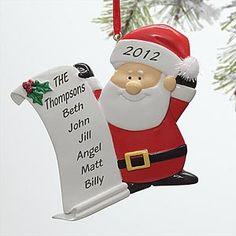 Santa's List© Personalized Ornament