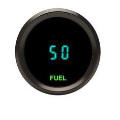 Dakota Digital Universal Round Quad Gauge Fuel Volts Oil Water Temp Teal Display Chrome Bezel ODYR-40-1-C
