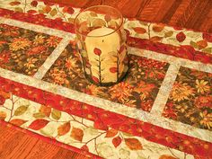Thanksgiving Table Decor Quilted Fall Table Runner Autumn