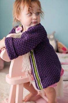 Crochet baby coat designed by Robyn Chachula... free pattern @Maria Canavello Mrasek Canavello Mrasek Salas Purls