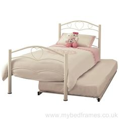 Yasmin Guest Bed in White
