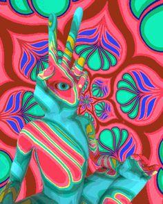 jmckeehen peace love trippy psychedelic