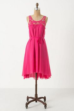 Coral Rose Dress #anthropologie