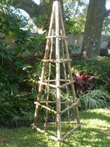 trellis from bamboo possible projects pinterest gardens