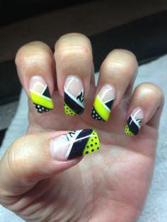 My nails. All gel hand drawn design using gel By Melissa Fox