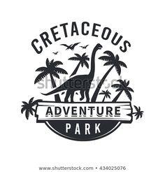 Dino Vintage T-shirt badge on white background Dinosaur Museum, Dinosaur Park, Lightning Bug Crafts, Monster Museum, Surf, Picture Icon, Artist Portfolio, Art Icon, Logo Concept