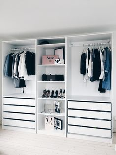 Outstanding Closet Design Ideas For Your Home - Unique closet design ideas will definitely help you utilize your closet space appropriately. An ideal closet design is probably the only avenue toward. Closet Shelves, Closet Storage, Wardrobe Storage, Wardrobe Closet, Open Wardrobe, Small Bedroom Wardrobe, Closet Space, Storage Room, Dressing Room Closet