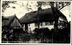 Ansichtskarte / Postkarte Ustronie Morskie Henkenhagen Pommern, Altes Fischerhaus mit Reetdach | akpool.de