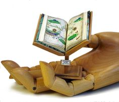 Miniature Book Stand with 10th Century Ottoman Map