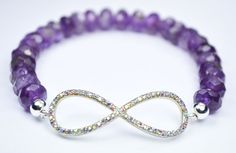 Check out this item in my Etsy shop https://www.etsy.com/listing/125124244/amethyst-infinity-bracelet-stretch