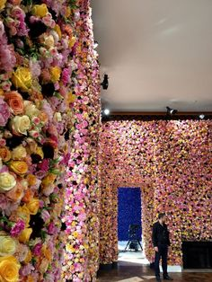 Antwerp-based florist Mark Colle - Images of Dior A/W 12-3 Haute Couture set from I Love Belgium flower installation