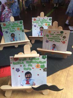 Dia del padre: - Jardin Tutorial and Ideas Kids Crafts, Preschool Crafts, Crafts To Make, Art N Craft, Craft Stick Crafts, Fathers Day Crafts, Happy Fathers Day, Father's Day Activities, Daddy Day