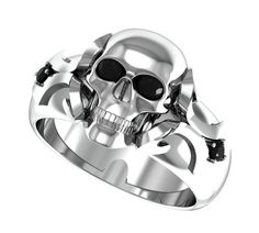 skull wedding rings for men