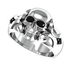 skull wedding rings for men Skull Wedding Rings for Women