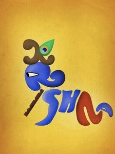 I would get this tattooed one day. so lovely. Hare Krishna, Krishna Leela, Krishna Love, Krishna Radha, Durga, Krishna Tattoo, Krishna Drawing, Krishna Painting, Indian Gods