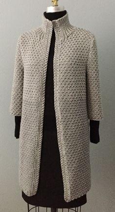 New Crochet Cardigan Girl Inspiration 53 - Diy Crafts - Marecipe Knitting Kits, Baby Knitting Patterns, Knitting Projects, Hand Knitting, Gilet Crochet, Crochet Coat, Knitted Coat, Wool Coat, Diy Crafts Crochet