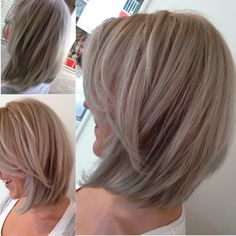 Color cut #highlight #blonde #color #babylights #grey #pink #greenblue #violet…