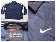 d7eb0c1126ad58 Vintage Men s Nike 90 s Jacket Blue White Stripes Full Zip Windbreaker  Jacket Streetwear XL by GentlyUsedGoods