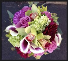 Everything Purple and More - Wedding Flowers by St Cloud Floral
