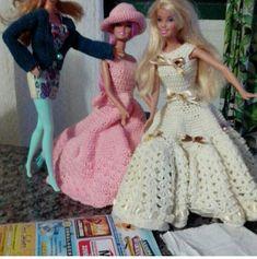 Crochet Barbie Patterns, Victorian, Disney Princess, Disney Characters, Dresses, Fashion, Crochet Stitches, Dress, Vestidos