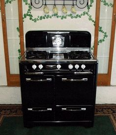 would love to a retro stove in our old house...so cool!