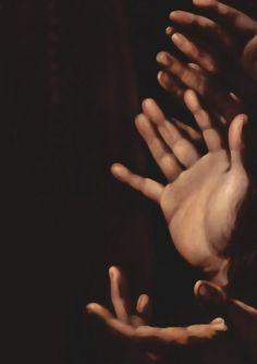 Caravaggio: Madonna del Rosario (detail)