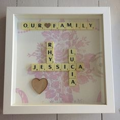 Scrabble Picture Frame These are a great gift idea for any occasion that can be personalised in any way that you want or just as the listing