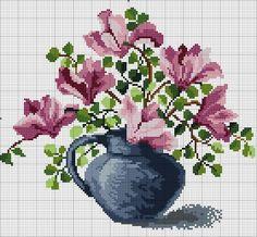 """Gallery.ru / 060317 """"Весенняя магнолия"""" - Схемы вышивки крестом - pustelga"""