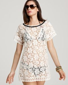 Betsey Johnson State Fair Lace Coverup   Bloomingdale's