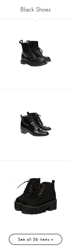 """Black Shoes"" by ghoul-babe ❤ liked on Polyvore featuring shoes, boots, ankle booties, bootie boots, dr martens boots, black bootie boots, dr. martens, black bootie, black ankle boots and short black boots"