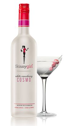WHITE CRANBERRY COSMO  A sassy take on a classic, combining hints of orange essence, subtle lime, berry fruit notes and cranberry into a natural, agave-sweetened wonder. A Lady Always Drinks Responsibly. Skinnygirl® White Cranberry Cosmo, Made with  Vodka, Triple Sec, and Natural Flavors, 9.95% Alc./Vol. ©2012  Skinnygirl Cocktails, Deerfield, IL (Per 1.5 oz – Average Analysis: Calories  34, Carbohydrates 2.3g, Protein 0g, Fat 0g) A Lady Always Drinks Responsibly.