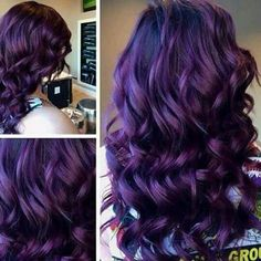 Purple Violet Red Cherry Pink Bright Hair Colour Color Coloured Colored Fire Style curls haircut lilac lavender short long mermaid blue green teal orange hippy boho ombré Pulp Riot