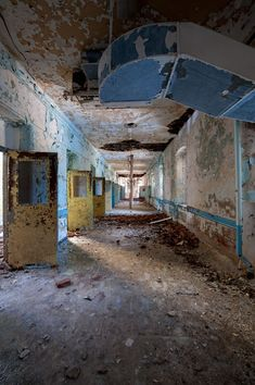 Natural daylight inside the abandoned Greystone State Hospital in New Jersey, by Scott Haefner.