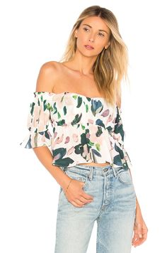 Find the best selection of ASOS Off Shoulder Top with Floral Embroidery. Shop today with free delivery and returns (Ts&Cs apply) with ASOS! Latest Fashion Clothes, Latest Fashion Trends, Fashion Online, Fashion Outfits, Trendy Fashion, Women's Fashion, Off Shoulder Tops, Off Shoulder Blouse, Sheer Fabrics