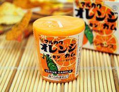 駄菓子シリーズ♪ボーティブキャンドルマーブルガムオレンジの香り故人の好物シリーズ【sep_pt】